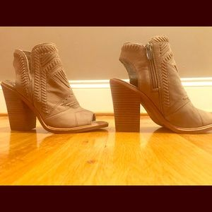 Vince Camuto Open Toe Booties